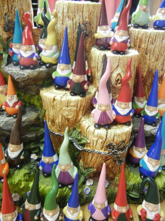 Gnome In Garden: Pocket Gnome, Garden Gnome, Lawn Gnome, OOAK, Hand