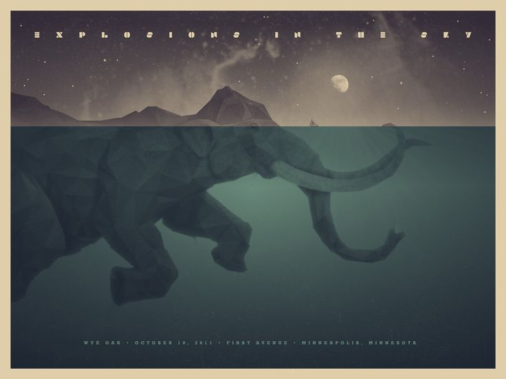 DKNG_Explosions In The Sky Poster and Art Print