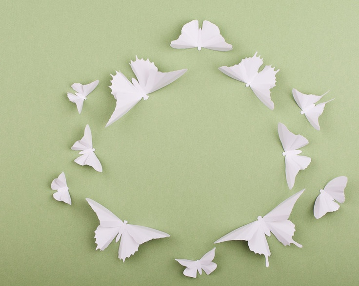 Paper Butterflies: 3D Butterfly Wall Art for Nursery, Baby Room ...