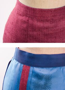 How to sew a couture waistband.