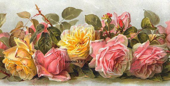 De Longpre rosesYellow Rose, Vintage Pink, Paul De, Art, De Longpre, Painting, Delongpr, Flower, Vintage Image