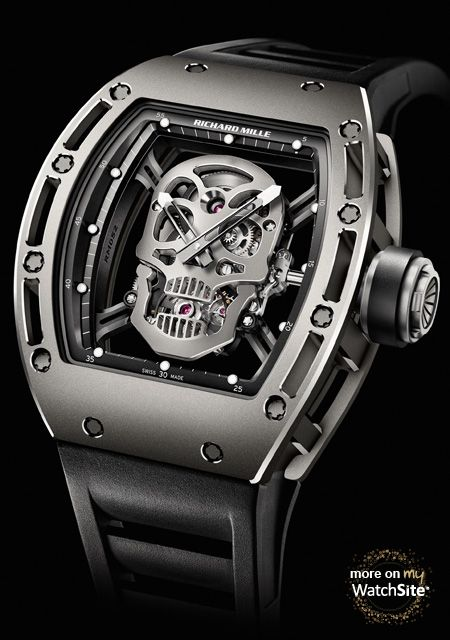 RM 052 Skull - Titane  - Richard Mille                                                                                                                                                      Plus