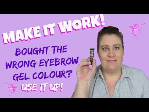 NYX Eyebrow Gel - How To Use Up A Too Dark Brow Gel - Make It Work Series - YouTube