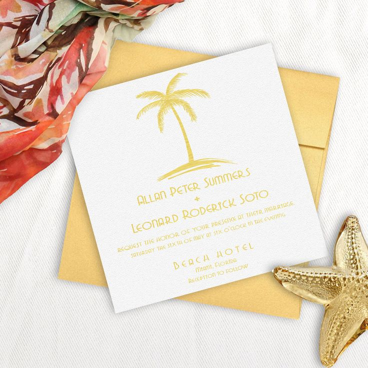 40 best ocean wedding inspiration images on pinterest With luxury wedding invitations miami