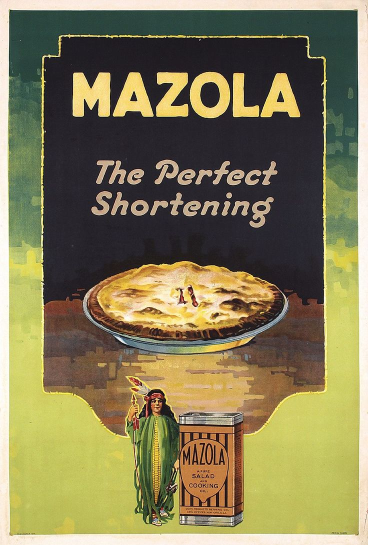 ORIGINAL 1930s American Advertising Poster MAZOLA - by PosterConnection Inc.