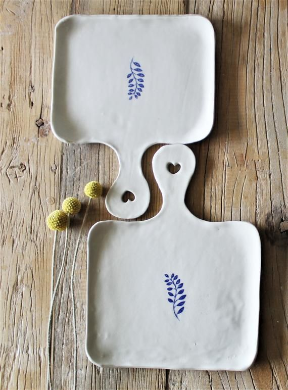 Hand Shaped Porcelain Serving cheese boards set of…