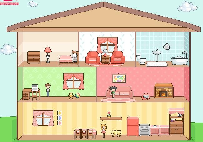Always dreamed about your perfect Doll House? With this game you can create the doll house of your dreams! #dollhouse #doll #game #decorate http://www.funnygames.biz/game/create_dollhouse.html