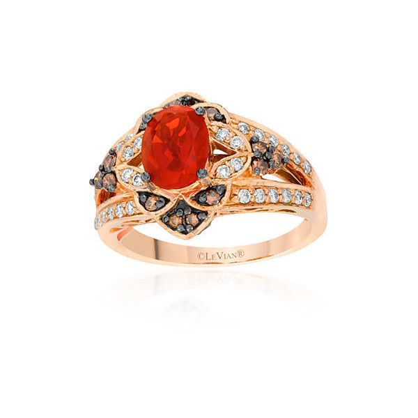 Le Vian Red 14K Strawberry Gold174 Neon Tangerine Fire Opal174 Vanilla... ($1,780) ❤ liked on Polyvore featuring jewelry, red, neon jewelry, 14 karat gold jewelry, 14k jewelry, le vian and red jewelry
