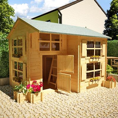 Mad Dash Annex Log Cabin Wooden Playhouse Including Floor at £849.90 from Gardenbuildingdirect