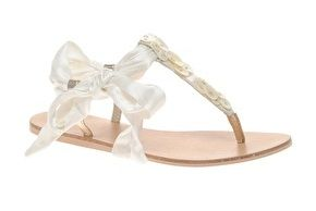 ASOS | ASOS FIFE Flat Sandals with Buttons and Ribbon Tie at