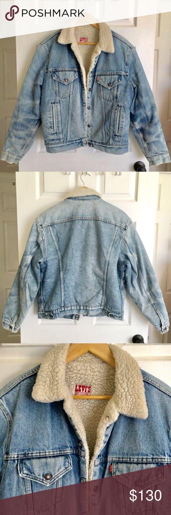 Vintage Levi's Sherpa Denim Jacket Get Coachella ready!   Levi's original San Francisco 1970s / 80s men's Jean jacket.   Size 44R   Good condition. Year round hispster jacket. Seen on celebs like Zac Efron, David Beckham, Tom Hardy... Levi's Jeans