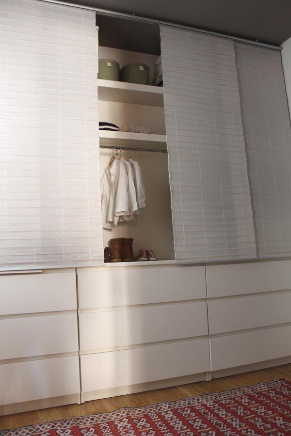 Vestidor decor pinterest dresser spaces and bedrooms - Armarios con cortinas ...