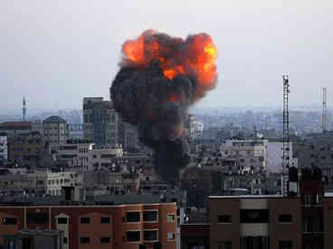Israel has upped pressure on Hamas with strikes hitting two Gaza City highrises on day 50 of their conflict..