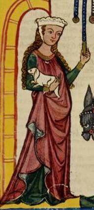 Na I. Media Romanica havia influencia da roma, suas roupas eram tunicas mais simples comecando parecer vestidos. As roupas das clases baixas eram versoes simples da nobreza, tambem coloridas, naturalmente com plantas e vegetas. Barbette : chapeu com tecido amarado ao queicho.
