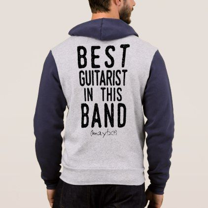 Best Guitarist (maybe) (blk) Hoodie - metal style gift ideas unique diy personalize