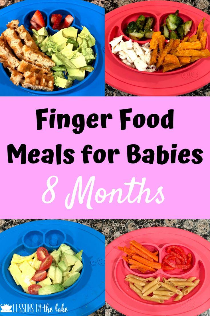 Baby finger food meals 8 months in 2020 finger foods