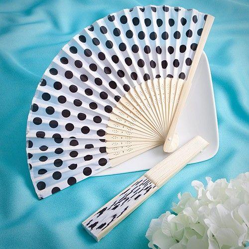 Pretty Polka Dots Silk Fan Favors