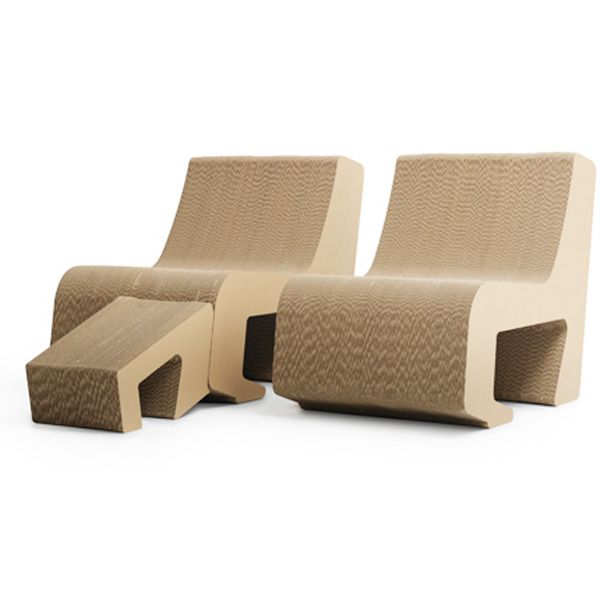 See, Cardboard is Cool.  The limited edition Prejudice furniture collection features a nested seat and footrest combination that is as functionally versatile as it is eco-friendly.