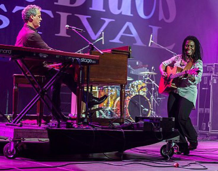 Scottie Miller in Poland at the Rawa Blues Fest with Ruthie Foster. (searching for photo credit!...stay tuned.)