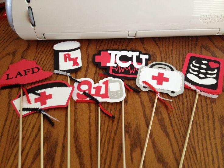 Medical Party Centerpiece sticks by MMLKCPapercrafts on ...