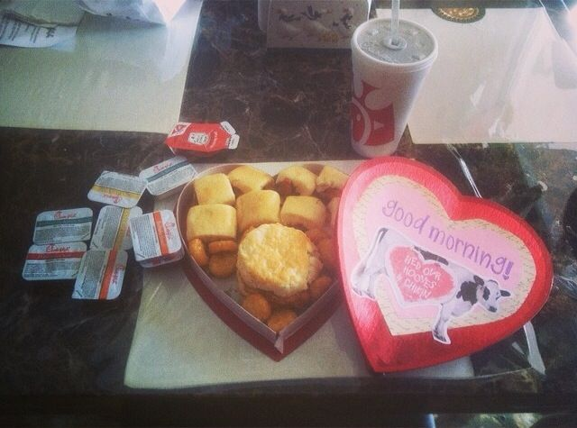 Valentines Day Chick Fil A In A Heart Box Easy Cheap