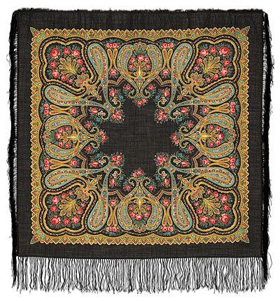 РОЖДЕСТВЕНСКИЙ -18 Шерстяной платок 89х89