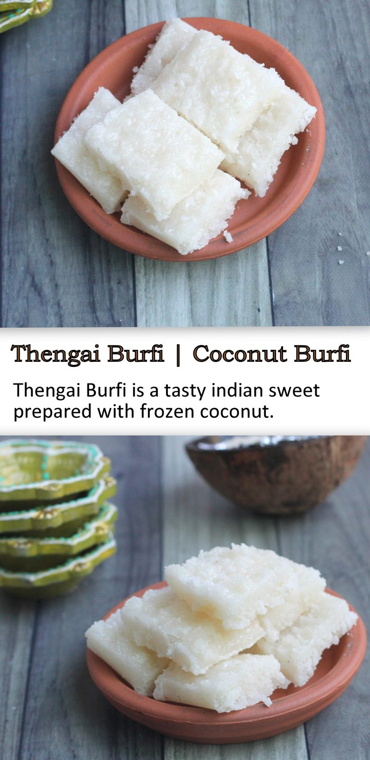 Thengai Burfi is a traditional Indian sweet prepared with coconut. Coconut burfi is a delicious dessert prepared with just two ingredients.