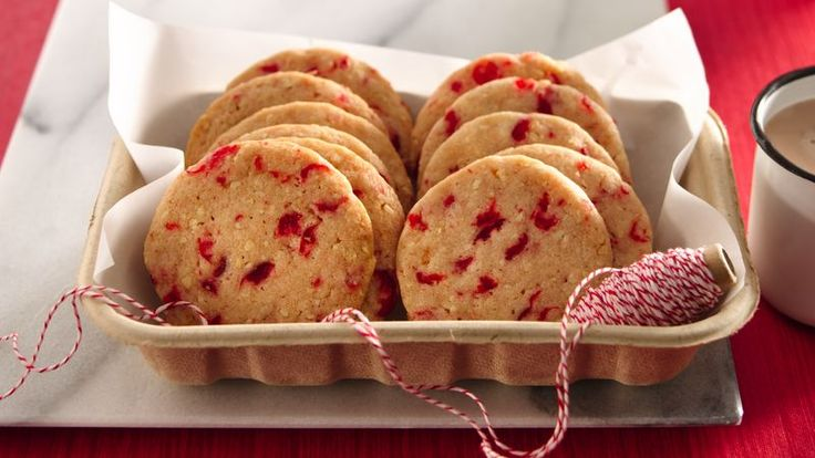 Cherry-Almond Refrigerator Cookies.  Looking for a tasty holiday dessert? Then check out these cherry-almond cookies that can be made ahead of time.