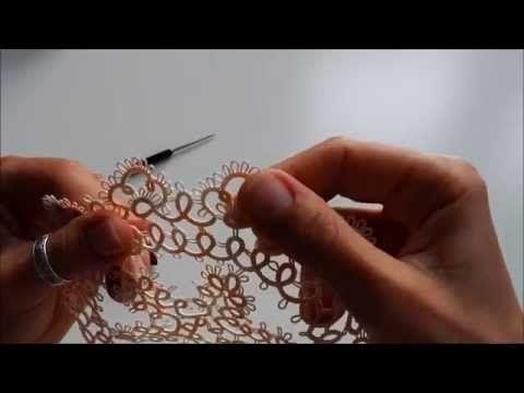 Frywolitka - jak zrobić pikotki 3/4 - YouTube