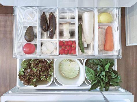 【セリア】こまった野菜室の収納をすっきり解決   ほんとうに必要な物しか持たない暮らし◆Keep Life Simple◆〜インテリアのきろく〜