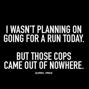 If you see me running, I suggest you catch up. Someone or something is definitely chasing me!! lol