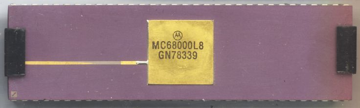 Motorola 68000 8Mhz. Introduced in 1979, the 68k was used in the Atari ST, Commodore Amiga, Macintosh, and Arcade machines. Eventually cloned by Hitachi and Thompson. After more than 35 years it is still being used today.