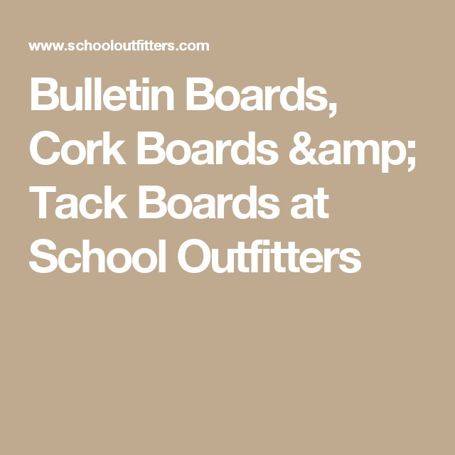 Bulletin Boards, Cork Boards & Tack Boards at School Outfitters