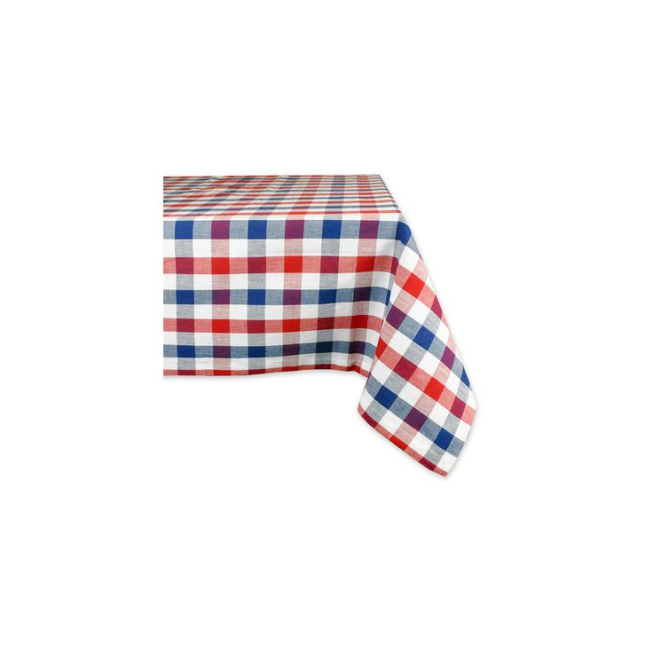 "Pink Tablecloth (60""X104"") - Design Imports, Red"