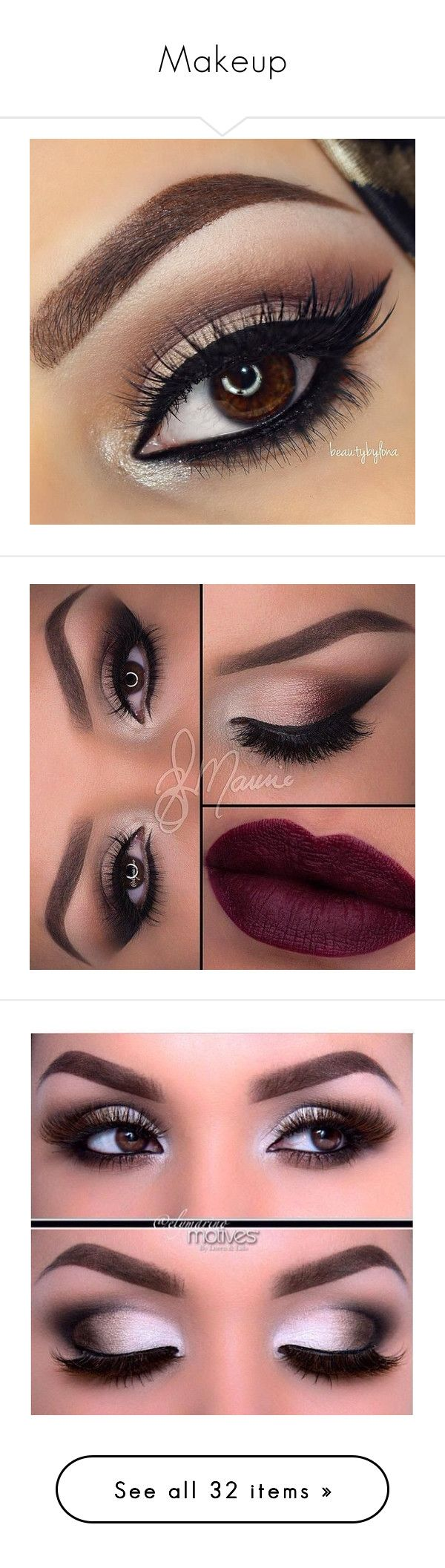 """""""Makeup"""" by obeyyyxllovve ❤ liked on Polyvore featuring beauty products, makeup, eyes, beauty, eye makeup, eye make up, lip, eyeshadow, makeup eyes and maquiagem"""