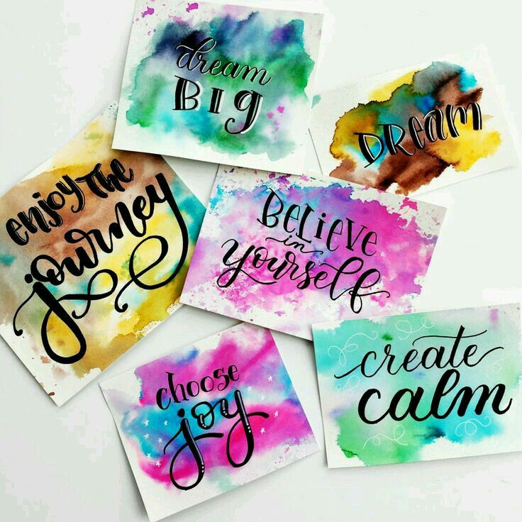 Pin By Zaara Khan On Quotes Hand Lettering Easy Watercolor