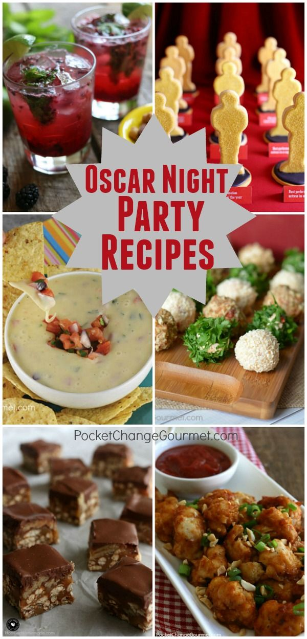All the glitz and glam of Hollywood will be walking the Red Carpet for Oscar Night! It's always fun to celebrate right along with the stars! Here are our favorite Party Appetizers, Main Dishes, Desserts, Cocktails and more!