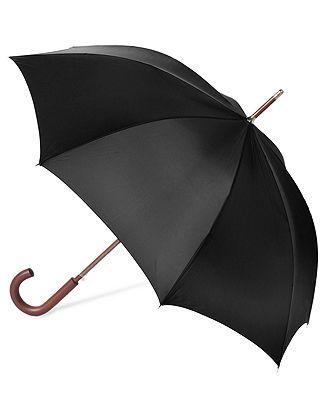 Totes Umbrella, Auto Wooden Stick. $20 Also available on Amazon (http://www.amazon.com/Totes-Wooden-Stick-Umbrella-Black/dp/B005FOJAR0/ref=sr_1_fkmr2_2?ie=UTF8&qid=1385945400&sr=8-2-fkmr2&keywords=black+totes+men%27s+auto+wooden+stick)