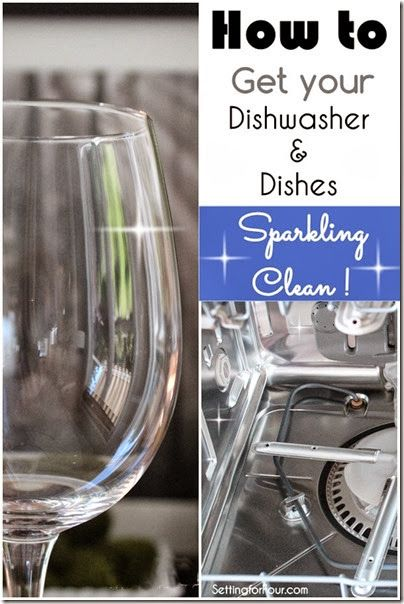 Hate the stuck on food and spotty watermarks on your 'clean' dishes and glasses? How to get your Dishwasher and Dishes sparkling clean the easy way! #sp