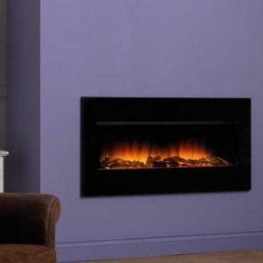 Flamerite OmniGlide Electric Floor Standing Fire Suite Black Mirror
