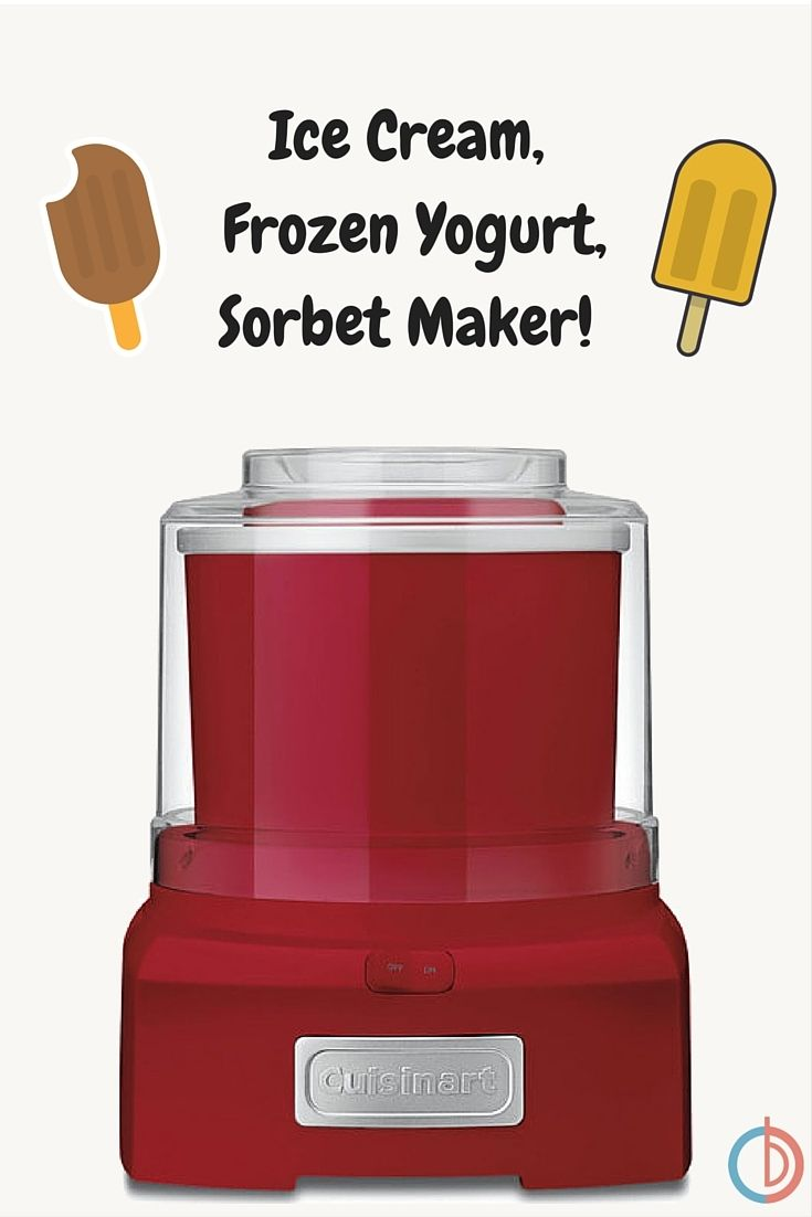 Now you can enjoy the finest homemade frozen treats at home! The fully automatic Cuisinart Frozen Yogurt Ice Cream & Sorbet Maker lets you make your favorites in 20 minutes or less, with no fuss and no mess!