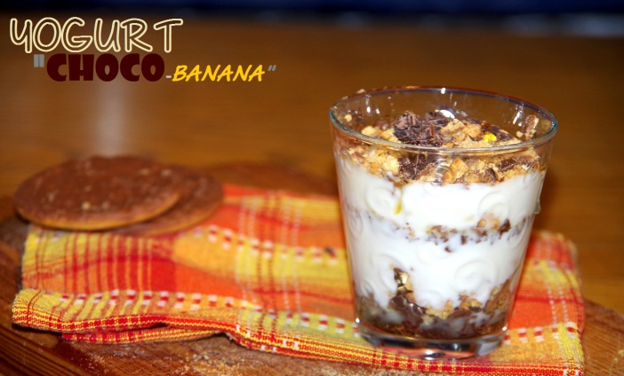 Cooking with cookies, coppa yogurtosa choco banana