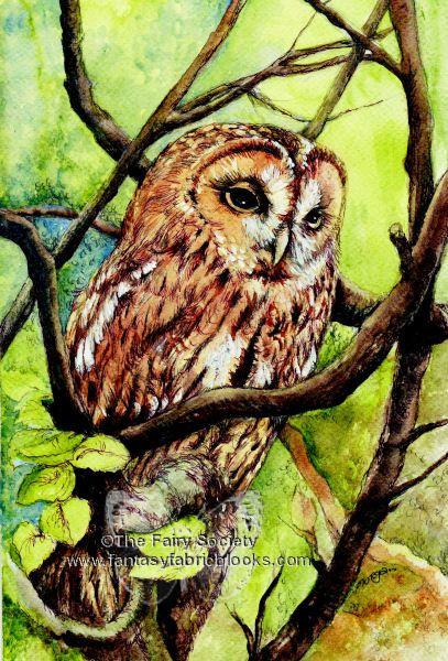 Craft Fabric owl print by MorgansFaeWorld on Etsy, £6.99