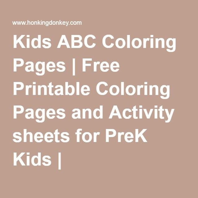 Kids ABC Coloring Pages