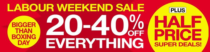 Spend as much time as you can outdoors this summer with Weekend Labour Sale!Save Up to 50% Off!...