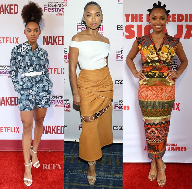 Logan Browning In Michael Kors Collection, Self-Portrait & Stella Jean – 'Naked' Premiere, 2017 Essence Festival & 'The Incredible Jessica James' Premiere