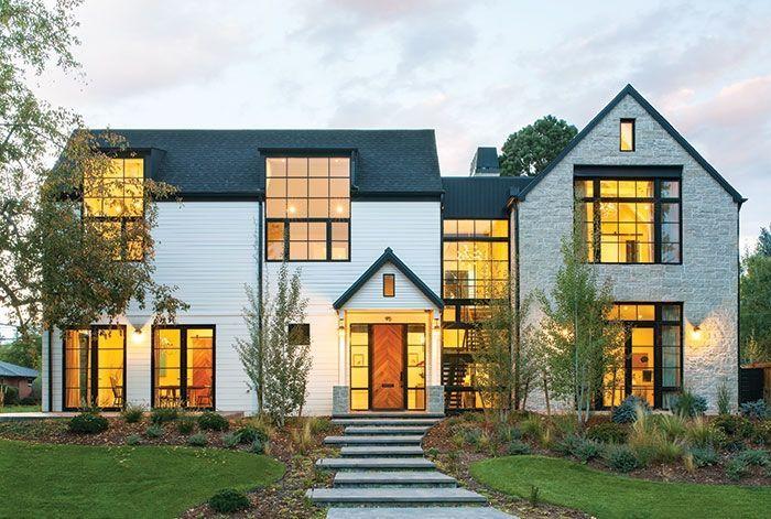 A Spacious Modern Farmhouse In Denver Contemporary Farmhouse Exterior Modern Farmhouse Exterior Farmhouse Architecture
