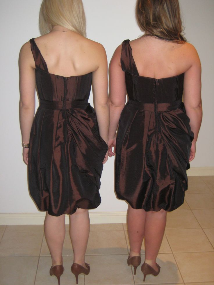 Chocolate taffeta one shouldered tulip skirt with belt. #angelamannocouture#madetomeasure #couture#bridesmaids