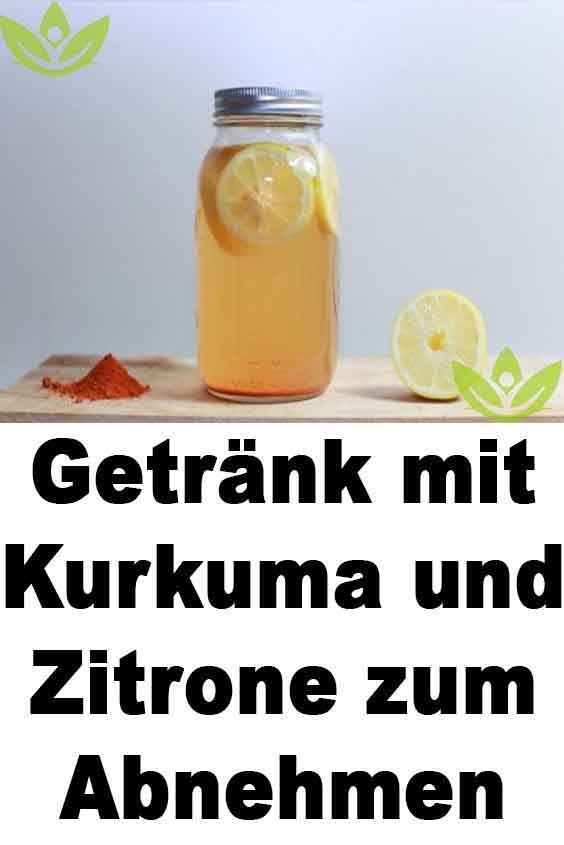 Getränk mit Kurkuma und Zitrone zum Abnehmen