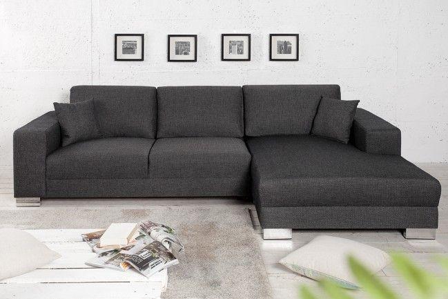 Design Ecksofa Cosi Mit Schlaffunktion Grau Original Candy Lifestyle Inkl Kissen Unser Ecksofa Cosi Ladt Wohnzimmer Couch Haus Deko Couch Mit Schlaffunktion
